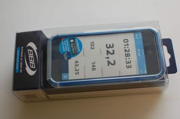 BBB Smartphone-Tasche Patron I6 BSM-03, schwarz-blau, inkl. Halterung