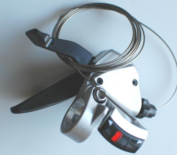 Shimano Shifter SL-R441 silber 2 / 3 fach linke Seite Kratzer wie Bild