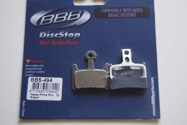 BBB 1 Paar (2 Stück) BBB Bremsbeläge DiscStop BBS-494 Hayes Prime Pro Prime Expert