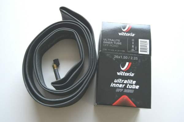 """Vittoria Ultralight 26"""" MTB Schlauch 26x1,5 - 2,25 AV 32mm Ventil"""