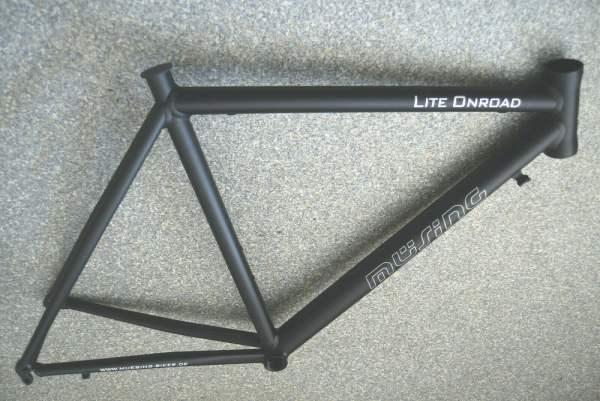 Müsing Lite Onroad Rennradrahmen 54cm für schwarz anodisiert 1395g