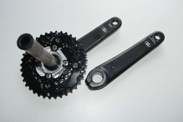 Shimano SLX 10-fach Kurbel FC-M675 38-24 Z 175mm schwarz