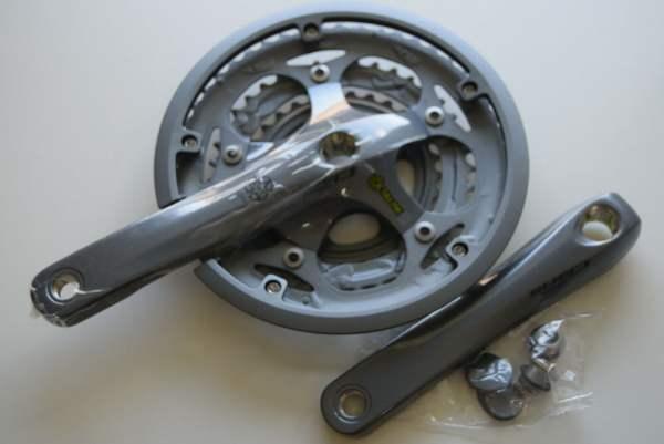 Shimano Kurbelgarnitur Claris FC-2403 50-39-30 silbergrau 170mm