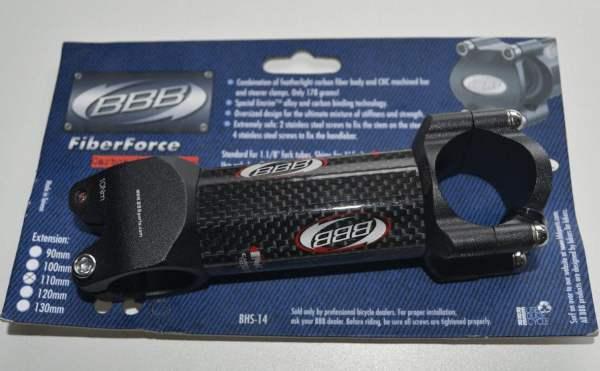 BBB Fiberforce BHS-14 Vorbau mattschwarz-Carbon 110mm Logo rot