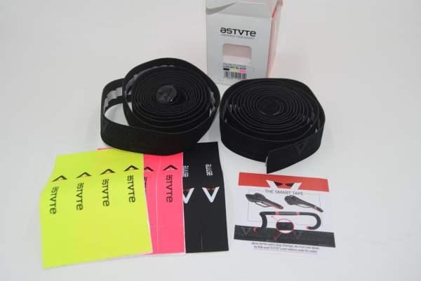 Astute LUXURY BLACK Lenkerband schwarz, neonpink, neongelb