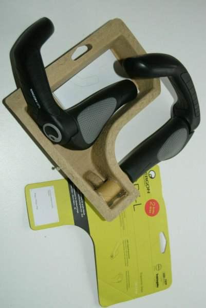 Ergon Griffe GP5-L schwarz mit BarEnd Fahrradgriffe ergonomisch MTB Touring