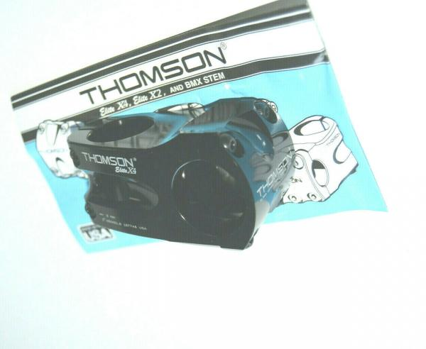 Elite Thomson Elite X4 Trail Vorbau 31,8mm 50mm 0° - schwarz