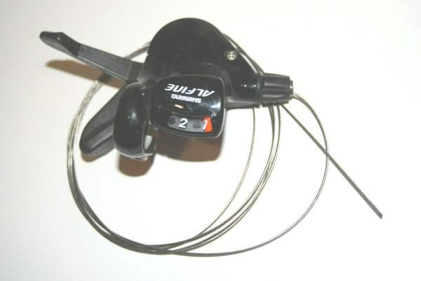 Shimano Alfine SL-S500 2-Fach Schalthebel linke Seite schwarz