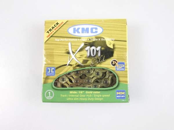 KMC X101 Singlespeed Kette gold 112 Glieder
