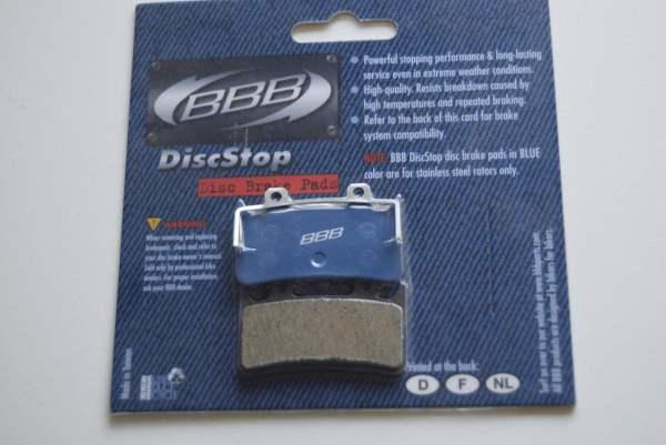 BBB 1 Paar (2 Stück) BBB Bremsbeläge DiscStop BBS-64B, Hope Mono 6 ti blau
