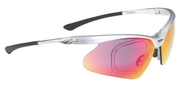 BBB BSG-33 Sonnenbrille Optiview + Wechselgläser silber