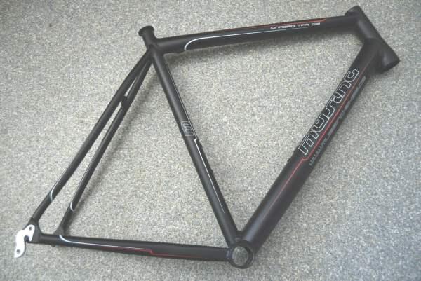 Müsing Onroad TPR DI2 Rennrad Rahmen RH 58cm schwarz anodisiert 1630g